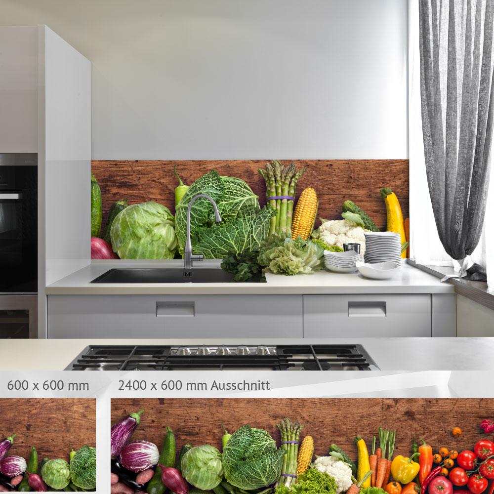 bedruckte k chenr ckw nde aus glas einfach zu reinigen und sch n. Black Bedroom Furniture Sets. Home Design Ideas